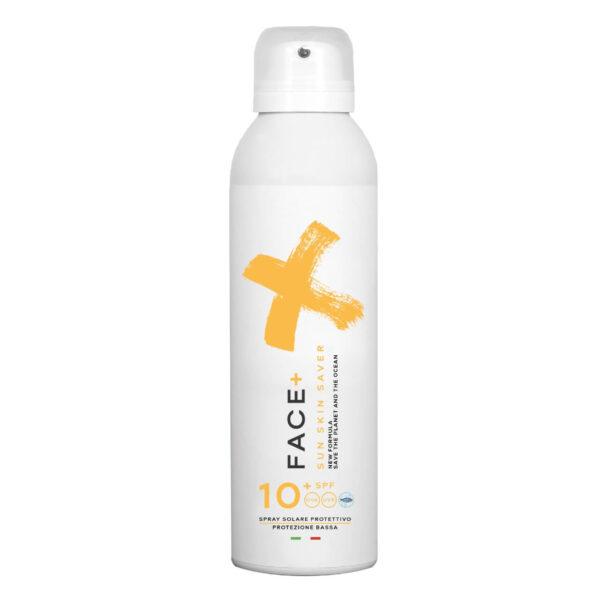 Facepiù Sun skin saver spray solare protettivo 10 spf